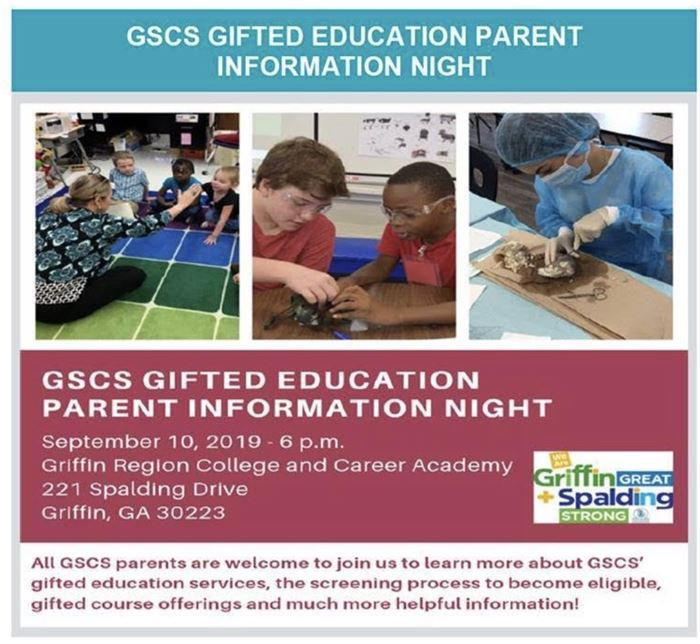 flyer for gifted information night